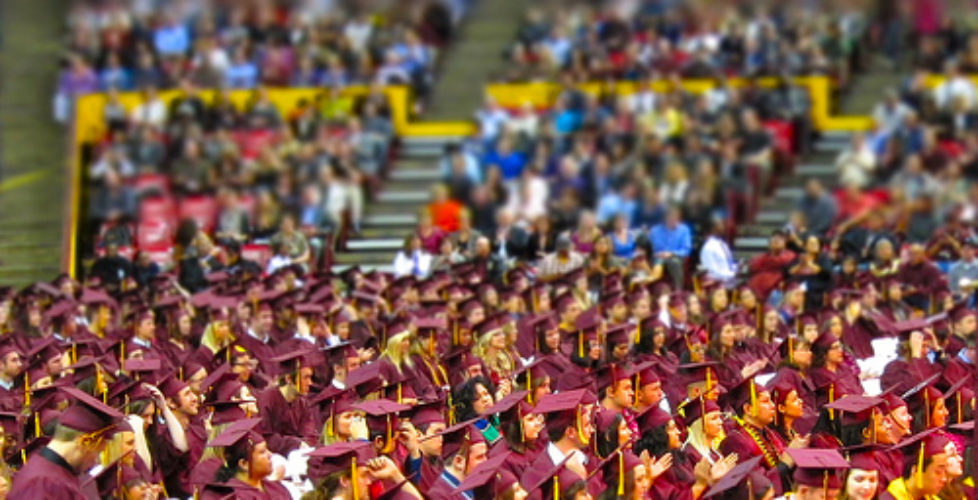 A sea of maroon and gold: ASU graduation 2010
